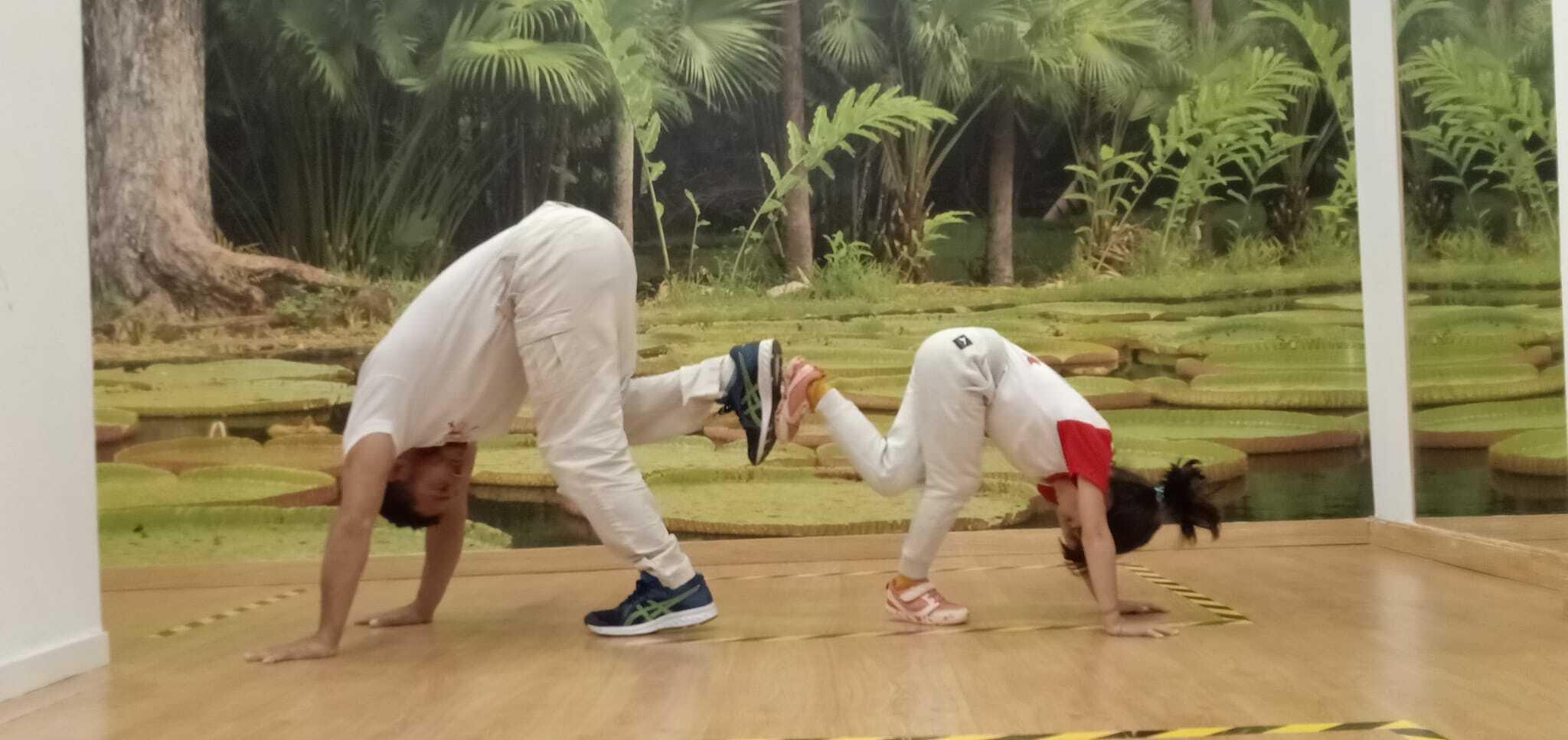 Juga Capoeira en familia